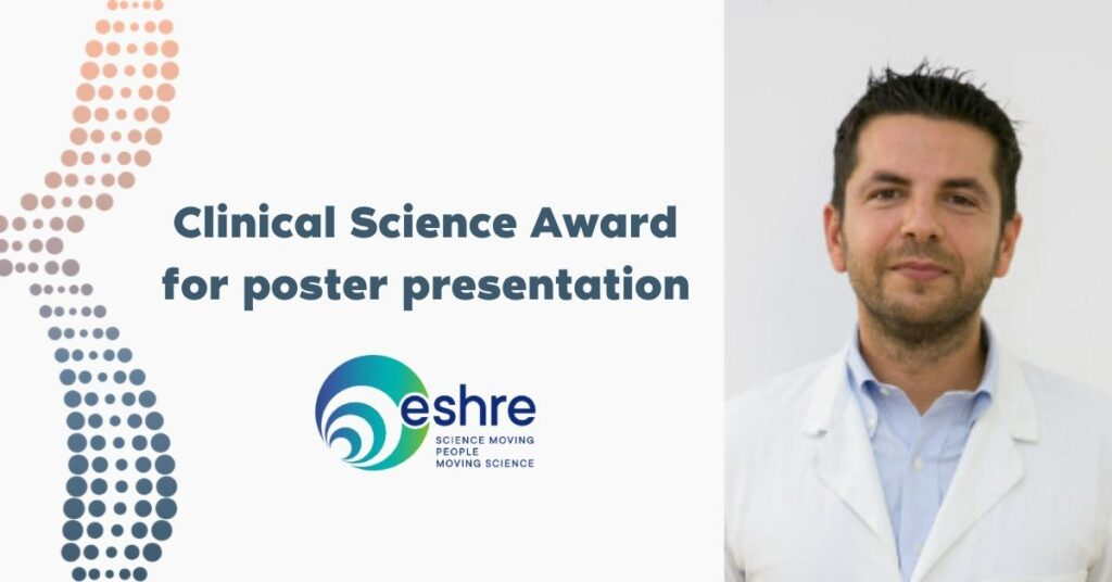 Clinical Science Award for poster presentation in ESHRE 2020